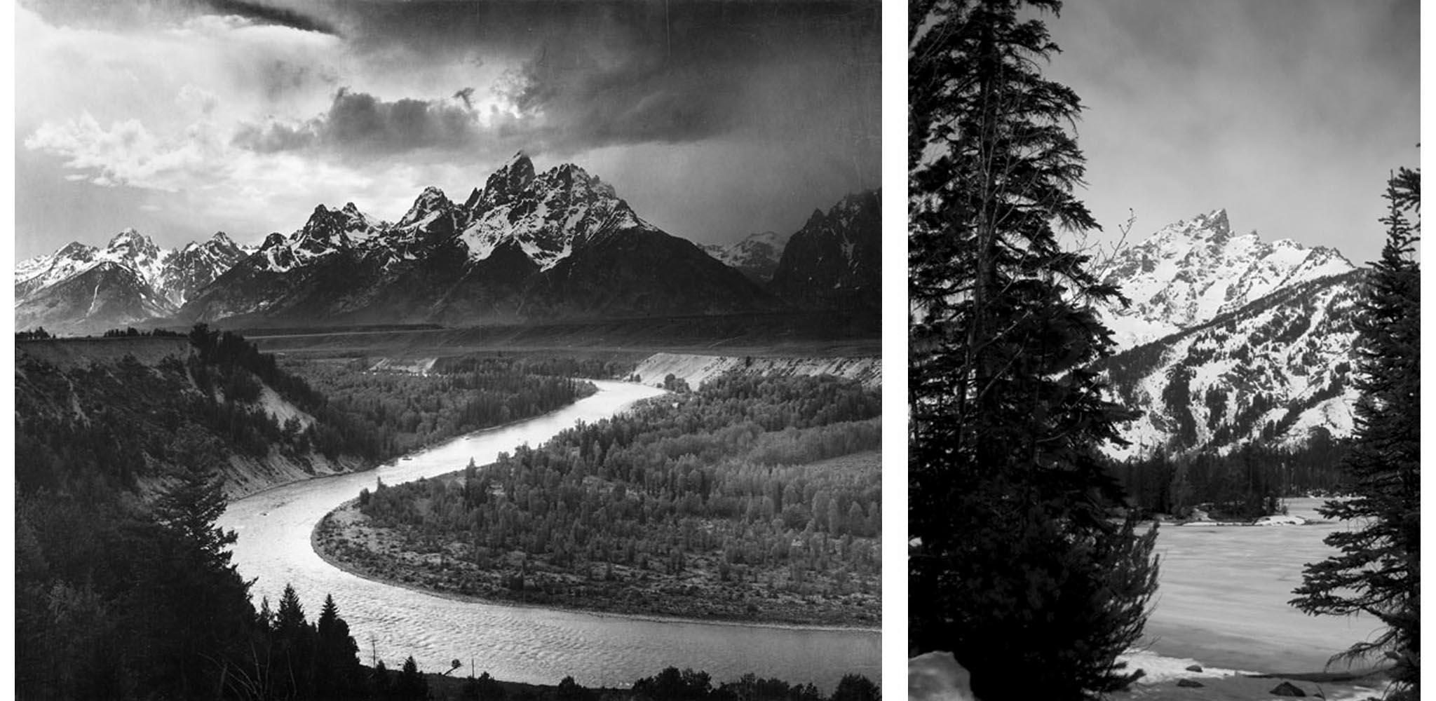 Ansel Adams The Tetons Snake River Wyoming 1942 Jeffrey Evans 2009